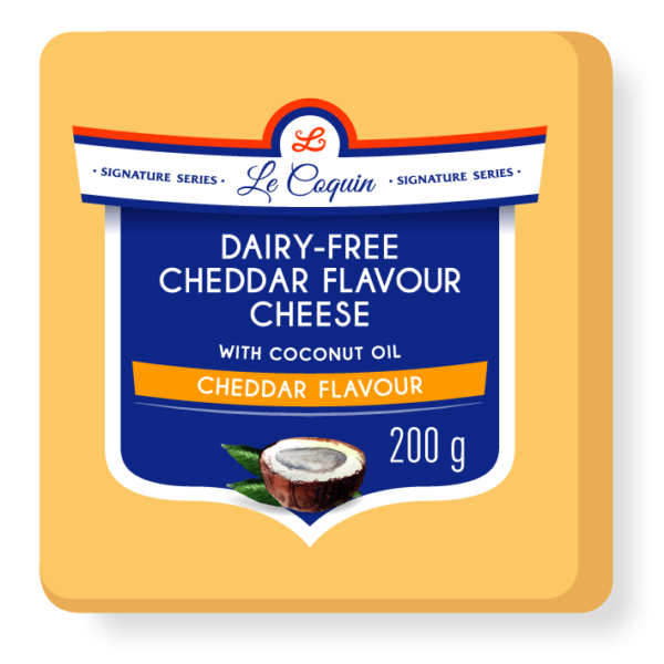 dairy free cheddar flavour cheese