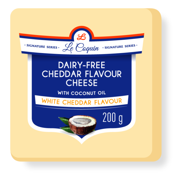 dairy free cheddar flavour cheese | white cheddar