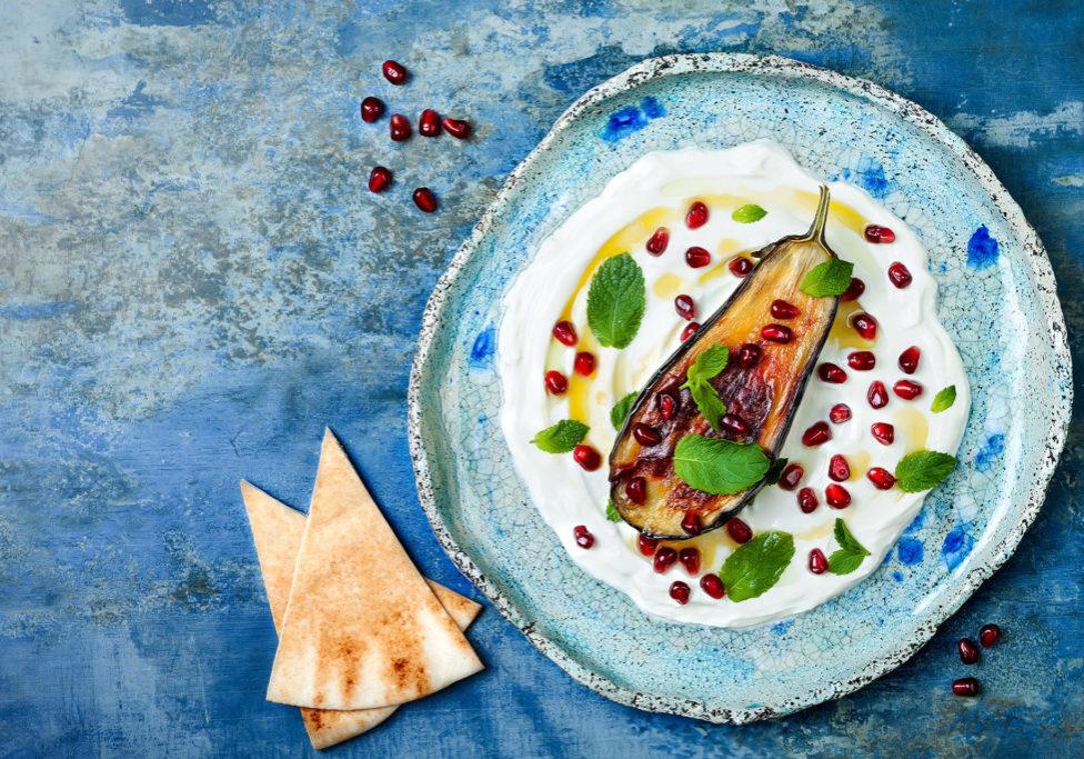eggplant-on-blue-plate